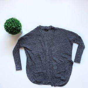 Revamped Slit Side Cardigan Grey Size Large